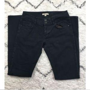 CAbi Black Denim Slim Straight Leg Jeans 6
